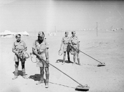 Training with mine detectors, Egypt, 1943 (c)