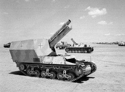 German Marder I self-propelled gun, North Africa, 1943 (c)