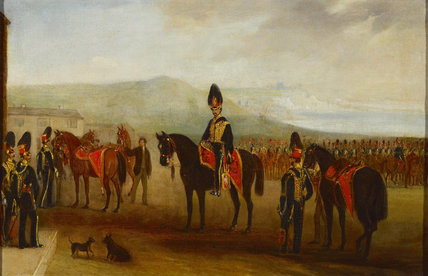 15th The King's Hussars drawn up in review order, 1837 (c)