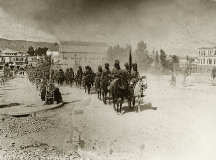 General Chauvel's march through Damascus, 2 October 1918