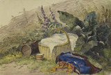 Still Life with Basket, Foxgloves, Clothes etc