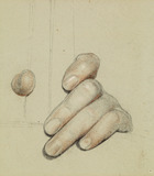 St George for Merrie England - Study of left Hand grasping a Bar