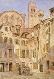 Church of the Frari, Venice from Campiello San Rocco