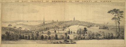 The East Prospect of Birmingham in the County of Warwick