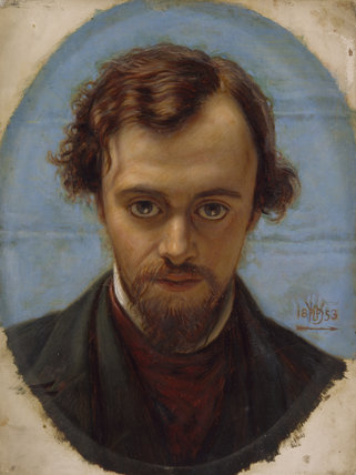 Portrait of Dante Gabriel Rossetti at 22 years of Age