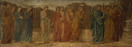 Cupid and Psyche - Palace Green Murals - The King and other Mourners abandon Psyche to the Monster