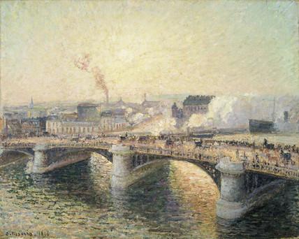 Le Pont Boieldieu à Rouen, Soleil Couchant