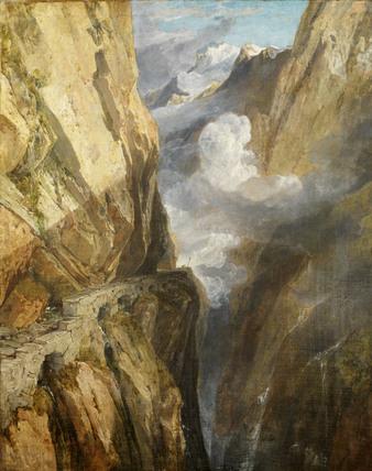 The Pass of Saint Gotthard, Switzerland