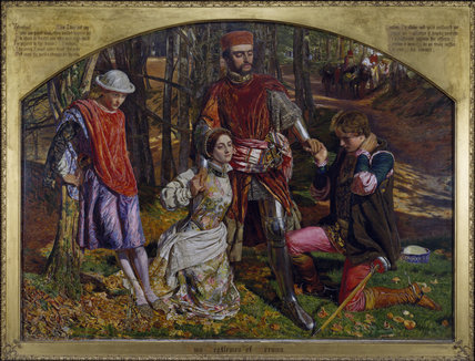 Two Gentlemen of Verona, Valentine Rescuing Sylvia From Proteus