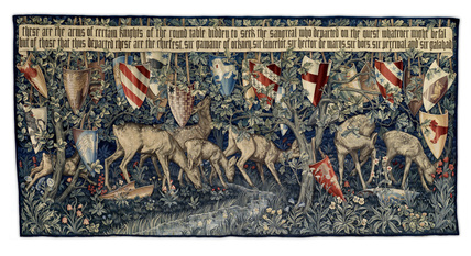 Quest for the Holy Grail Tapestries - Verdure with Deer and Shields