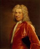 SIR JOHN TREVELYAN by John Vanderbank (1694-1739), in the Dining Room at Dunster Castle