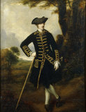 'WICKED' SIR JAMES PENNYMAN, 1762 attributed to Reynolds hanging in the Dining Room