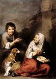 "MURILLO - ""Boy Teasing an Old Woman"" at Dyrham Park"