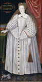 LADY ARABELLA STUART AGED 13 BY ROWLAND LOCKEY after English School, 1589, oil on panel, 161 x 84 cm, photographed post-conservation