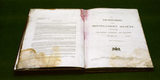 """Close up of open 1890's""""The Necessaries & Miscellaneous Account"""" book"""