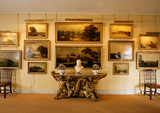 The Upper Gallery showing the paintings of Windsor Castle collected by Lord Fairhaven (1896-1966)