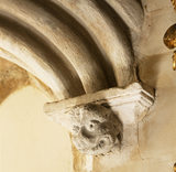 The Long Gallery, detail of archway from Ramsey Abbey
