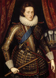 HENRY PRINCE OF WALES by Paul van Somer in the Inner Hall of Dunster Castle