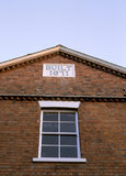 Detail from the Infirmary Block of the C19th workhouse showing the plaque 'Built 1871'