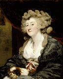 AMELIA, LADY HUME (1751 - 1809) by Sir Joshua Reynolds (1723 - 92) which hangs in the Marble Hall at Belton House