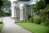 The front of Trelissick House showing the front border