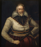 SIR PETER LEGH IX AS AN OLD MAN (1563-1636) painted by an unknown artist