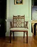 Mahogany chair in Chinese Chippendale style, C18th, in the Drawing Room at Castle Drogo