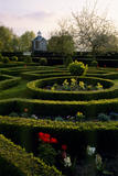 Box parterre and the Tall Pavilion, Westbury Court Garden, Gloucestershire