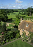 The end of the Rose Garden at Sissinghurst viewed from The Tower