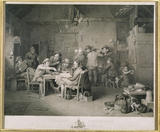 VILLAGE POLITICIANS, after David Wilkie, 1806, engraved by Abraham Raimbach (Earl of Mansfield), showing a lively debate between a group of village men