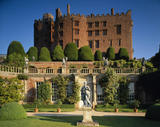 View of the Orangery with Powis Castle in the background