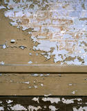 Men's Sleeping Room on second floor showing detail of peeling c20th paintwork on brick wall, left as found in 1997