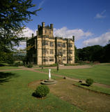 View across the lawn to the South Front of Gawthorpe Hall