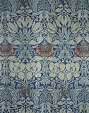 """Close view of """"Tulip and Rose"""" wool curtains by William Morris in the Great Parlour at Wightwick Manor"""
