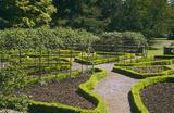 The Old Rose Garden under restoration in the garden at Tyntesfield, North Somerset