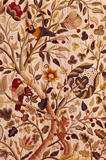 "Detail of bed hanging, crewel-work ""Tree of Life"" at Gawthorpe in the Huntroyde Room embroidered by Rachel Kay-Shuttleworth"