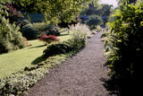 View of the walled garden with its long gravel path, at Wallington
