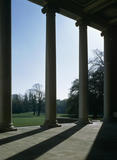 View from under the Portico out over the park