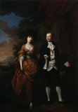 THE 1st LORD AND LADY SCARSDALE WALKING IN THE GROUNDS OF KEDLESTON, by Nathaniel Hone, (1718-1784) dated 1761