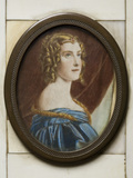 JANE DIGBY, LADY ELLENBOROUGH, (1807-1881), an oval miniature by Knight after the portrait by Josef Stieler, commissioned by King Ludwig I of Bavaria for the Gallery of Beauties, in an ivory frame at Berrington Hall, Herefordshire