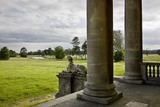 View from the portico of Croome Court looking towards Park Seat at Croome Park, Croome D&#039;Abitot, Worcestershire
