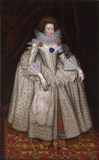MARY CURZON, COUNTESS OF DORSET (d.1645) by William Hamilton RA (1750/51-1801), after William Larkin (active 1606-d.1619), painting in the State Bedchamber at Kedleston Hall, Derbyshire. Painting photographed post-conservation.
