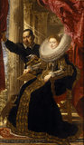 MARCHESA MARIA GRIMALDI by Sir Peter Paul Rubens (1577-1640) from the Saloon at Kingston Lacy