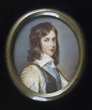 WILLIAM II OF ORANGE AS A BOY, a copy of a miniature, British School, c.1800, at Berrington Hall, Herefordshire.