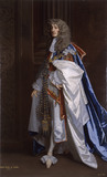 JAMES II AS DUKE OF YORK IN HIS GARTER ROBES by the studio of Sir Peter Lely, 1674, at Kedleston Hall, Derbyshire
