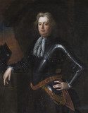 JOHN PHELIPS OF IRELAND, 1644-1701, unknown artist c.1690, in the Parlour Passage at Montacute House, Somerset.