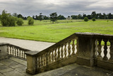 View from the steps of Croome Court to the Temple Greenhouse at Croome Park, Croome D&#039;Abitot, Worcestershire