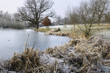 A winter walk in January on the estate which surrounds Sissinghurst Castle Garden, near Cranbrook, Kent