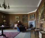 The Boudoir, used as Mrs Drewe's sitting room, at Castle Drogo, Devon