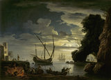 SEAPIECE-NIGHT by Lacroix de Marseilles, d. 1782